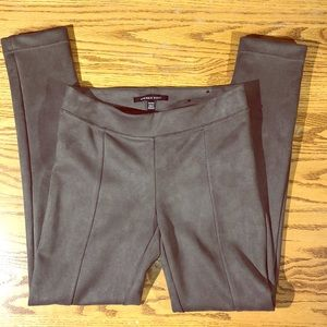 ANDREW MARC FAUX SUEDE PANTS Size XS taupe
